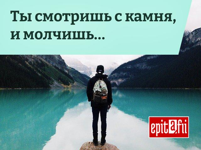 Эпитафия: Ты смотришь с камня и молчишь